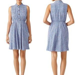 Kate Spade Blue Petals Shirtdress, Size Med.